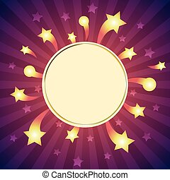 Vector white frame isolated on sparkle background