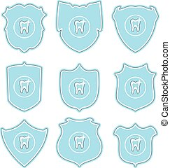 vector collection of tooth protect icons