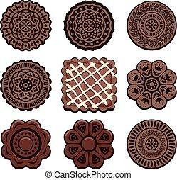 vector oreo cookie set