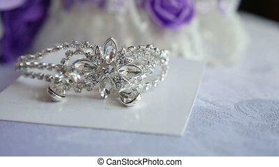 tiara for the bride silver on the video table