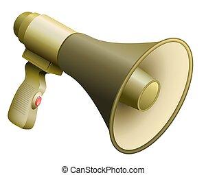 Army Bullhorn Military Megaphone - Army bullhorn or...