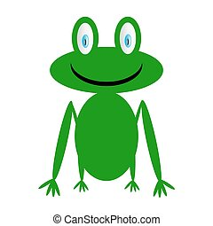 Frog icon on white - Frog icon on white background Vector...