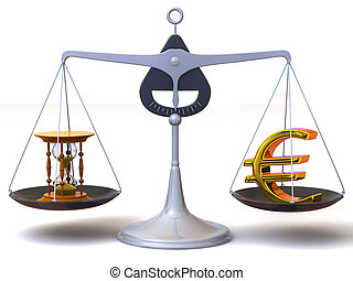 balance of time and money. 3d