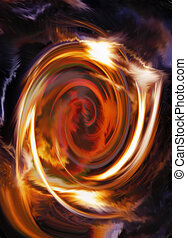 Abstract background and color circle effect, color...