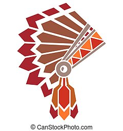 American indian avatar - Vector illustration of the american...