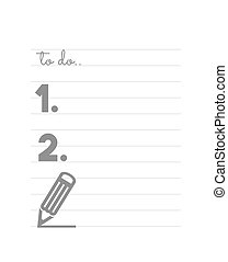 Blank TO DO list - Vector illustration of the blank TO DO...