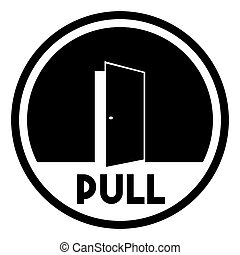 Door sign - pull - Vector illustration of the Door sign -...