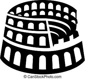 Rome colosseum icon - Vector illustration of the Rome...