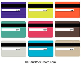 bank card - Simple Set of Credit Card Related Vector Line...