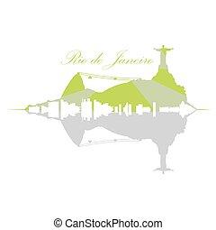 Isolated Rio de Janeiro Skyline