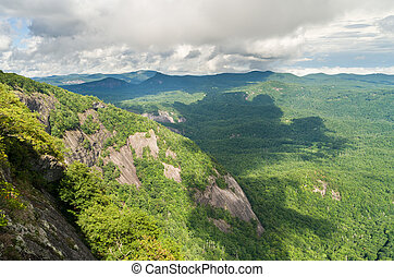 Trail to summit of Whiteside Mountain - View from the trail...