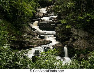 Cullasaja Falls Waterfall on Mountain Water Scenic Byway...