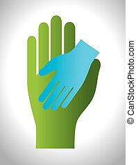 helping hands concept  icon vector illustration design