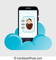 cloud computing data icon