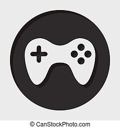 information icon - gamepad - information icon - dark circle...