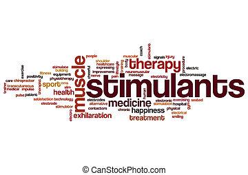 Stimulants word cloud concept