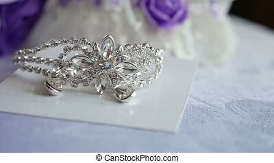 tiara for the bride silver on the table video - tiara for...