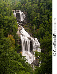 Whitewater Falls in Jocassee Gorge North Carolina - Highest...