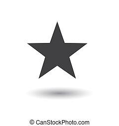 Star Icon Illustration - Star icon illustration on a white...