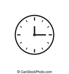 Clock Icon Illustration - Clock icon illustration isolated...