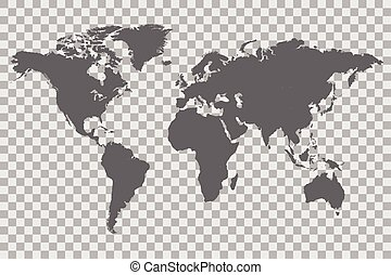 World Map Checker Background - World map on a checkered...