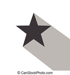 Star Icon Long Shadow - Star icon with a long shadow