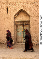 Omani Women - Arab women in the village of Birkat Al Mouz in...