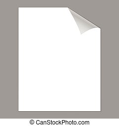 Blank paper with page curl - Blank paper with a page curl