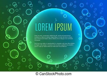 Abstract background with bubbles - Abstract background with...