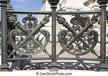 Lisbon Marquis of Pombal - Detail of the balustrade of base...