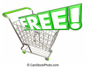 Free Word Bonus Gift Special Complimentary Shopping Cart 3d...