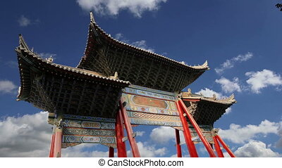 Buddhist temple-- Xian, China - entrance to a Buddhist...