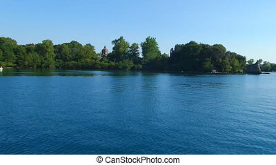 Navigation On Bolsena Lake - Navigation on Bolsena Lake in...