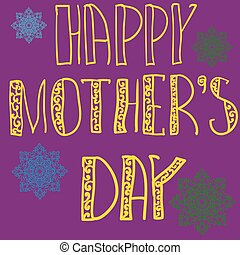Handlettering Background With Hand Drawn Lace For Mother s...