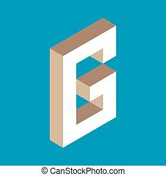 isometric letter g.