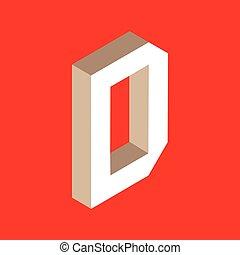 isometric letter d.