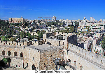 View of Jerusalem from the Jerusale - View of the city of...