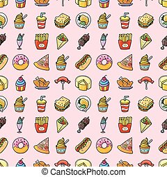 Food and drinks icons set,eps10