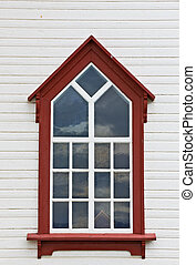 Detail of the Husavik Church window, Iceland - Detail of the...