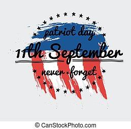 Patriot day vector label or baner September 11 911 Vector...