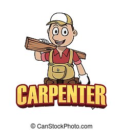 carpenter banner illustration design colorful