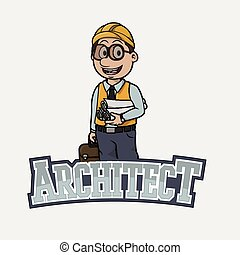 architect banner illustration