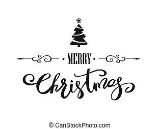 Merry Christmas lettering design - Merry Christmas hand...