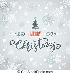 Merry Christmas greeting card. Holiday lettering design -...