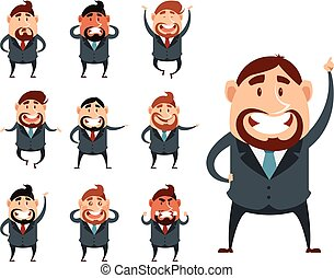 Set of business men - Vector image of the set of business...