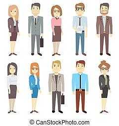 Businessmen businesswomen employee vector people characters...