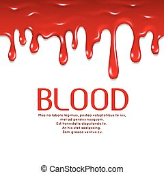 Dripping seamless blood. Horror vector concept illustration