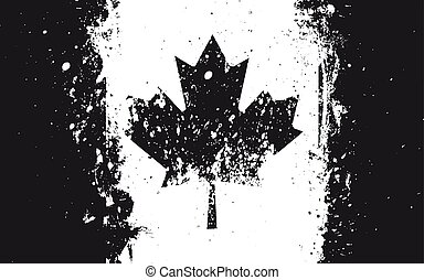 Flag of Canada. Grungy, worn, scratched style