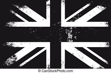 Grunge Great Britain Flag.