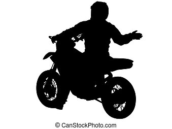 Motor bike on white background - People and sport bike on...